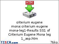 Criterium Eugene Mona Q3w3rza