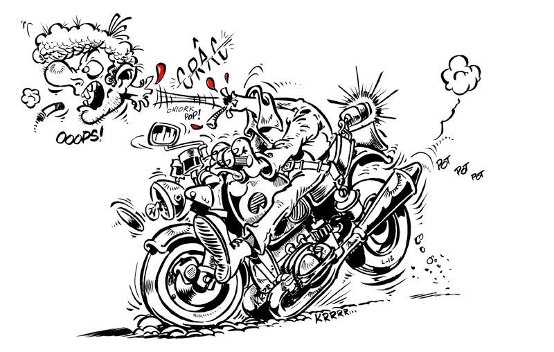 circulation dans les rond-points Moto-freinage