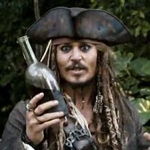 Finále Rum vs. steak Jack-sparrow-drunk