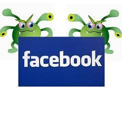 5 principais ameaças das Redes Sociais Virus-facebook