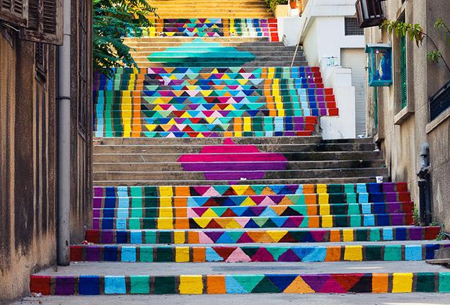 Oslikane stepenice Saint-nicholas-stairs-beirut-lebanon
