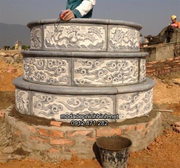 Sản phẩm cần bán: Tư vấn làm mộ đá tròn đẹp miễn phí TQ Mau-mo-da-tron-dep