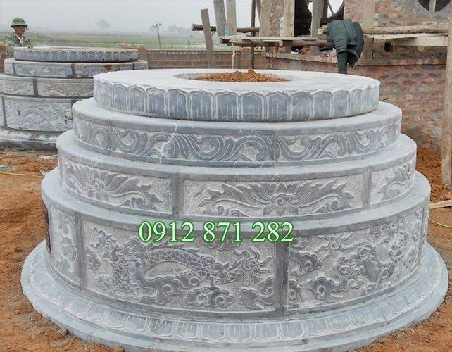 Sản phẩm cần bán: Tư vấn làm mộ đá tròn đẹp miễn phí TQ Mau-mo-hinh-tron