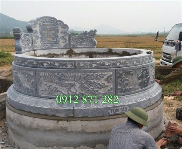 Sản phẩm cần bán: Tư vấn làm mộ đá tròn đẹp miễn phí TQ Mo-tron-da-dep-1