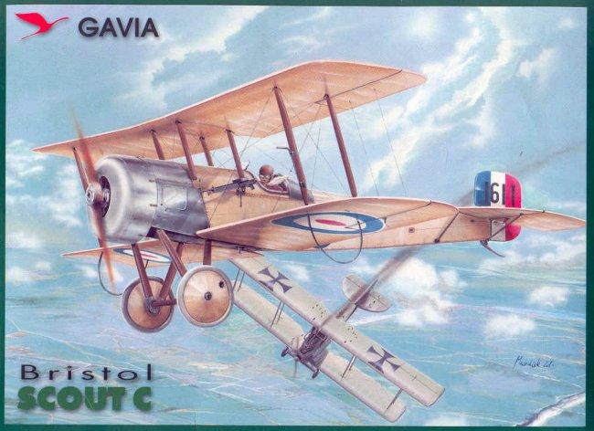 Gavia 1/48 Bristol Scout 2.wing RNAS Thassos Grèce juin 1916 Cleaverbristolbt