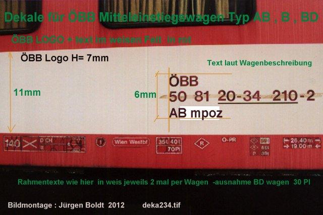 Mein ÖBB Mitteleinstiegswagenzug  DEKA234