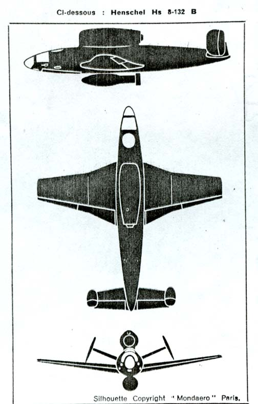Luftwaffe 46 et autres projets de l'axe à toutes les échelles(Bf 109 G10 erla luft46). - Page 2 Hs132B_Mondaero