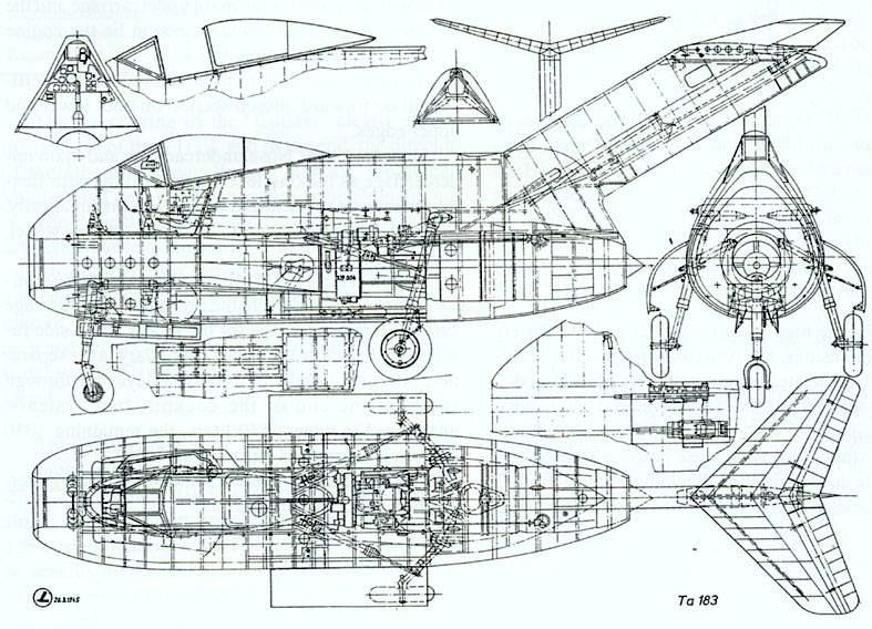 "Focke-Wulf Ta183A ""HUCKEBEIN"" [1:48 - Tamiya] Ta183_cutaway_A0"
