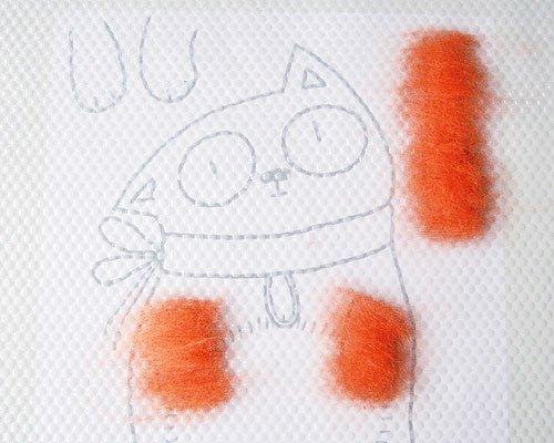 Мастер-класс по валянию: чехол для мобильного телефона «Рыжий кот» Redkitty-anisimova-tatyana-11