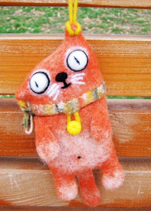 Мастер-класс по валянию: чехол для мобильного телефона «Рыжий кот» Redkitty-anisimova-tatyana-25