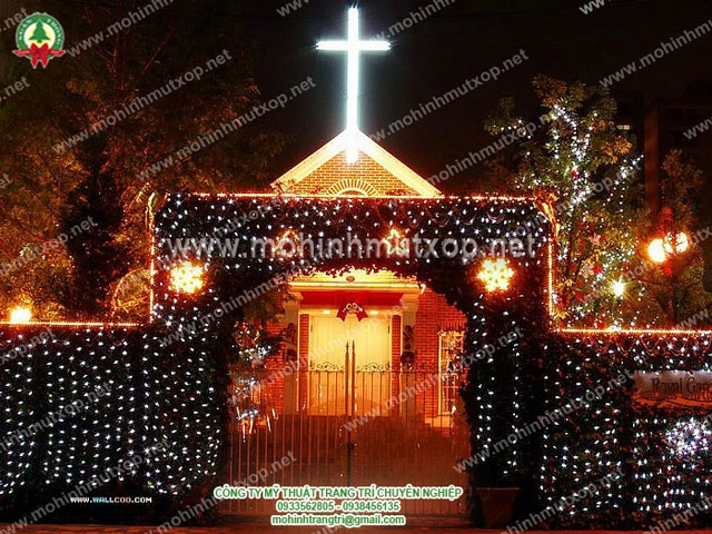 Dịch vụ trang trí noel Wallcoo.com_Christmas_night_wallpapers_04