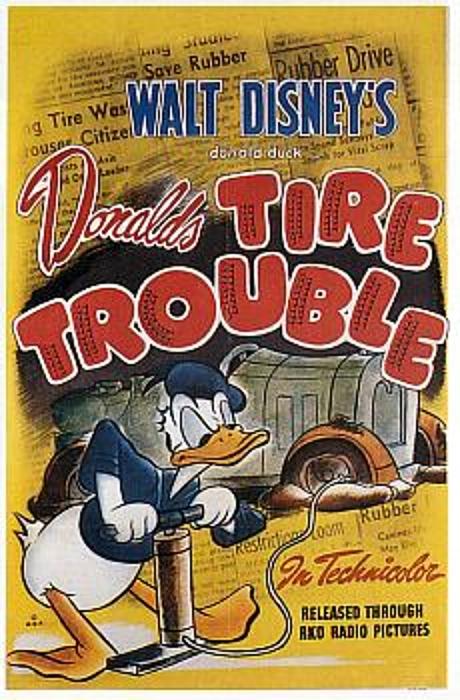 [Walt Disney Animation Studios] La Fabuleuse Histoire de Donald et des Castors Juniors (1975) - Page 2 1943%20Donald%27s%20tire%20trouble_bis