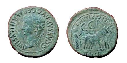 As de Caesaraugusta, reinado de Calígula. Caesaraugusta04