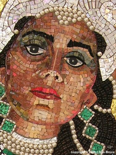 Mozaik Queen-esther-revealing-her-true-identity-mosaic-portrait-lilian-broca
