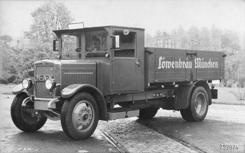 camion inconnue sur banc dynometrique. 1930_MAN_5_KVB_Loewenbraeu