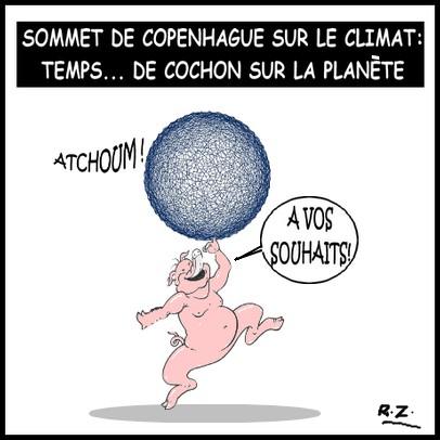 Caricature du jour: Le sommet de Copenhague sur le climat Sommetclimat
