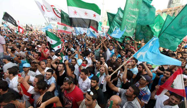 pour - Ingérence impérialiste en Syrie:  Le sinistre plan du Nouvel Ordre Mondial… - Page 2 Drapeaux