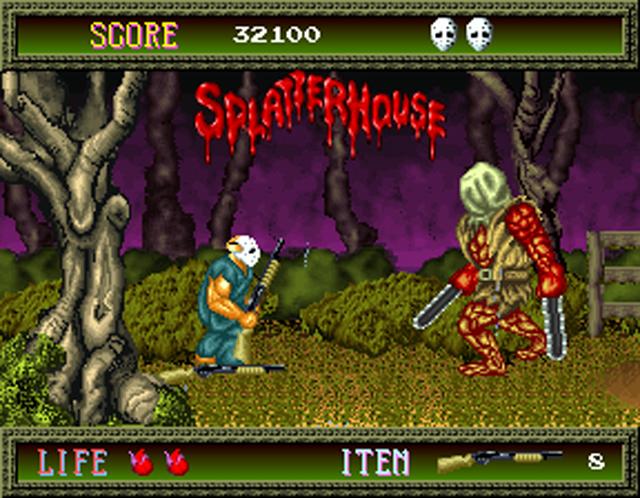 videojuegos de terror, RETRO, VINTAGE Splatterhouse_640