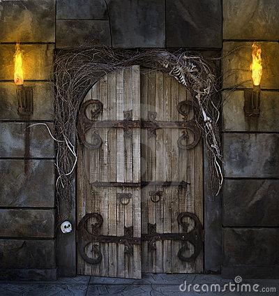 The Dark Hand Door-clipart-spooky-4
