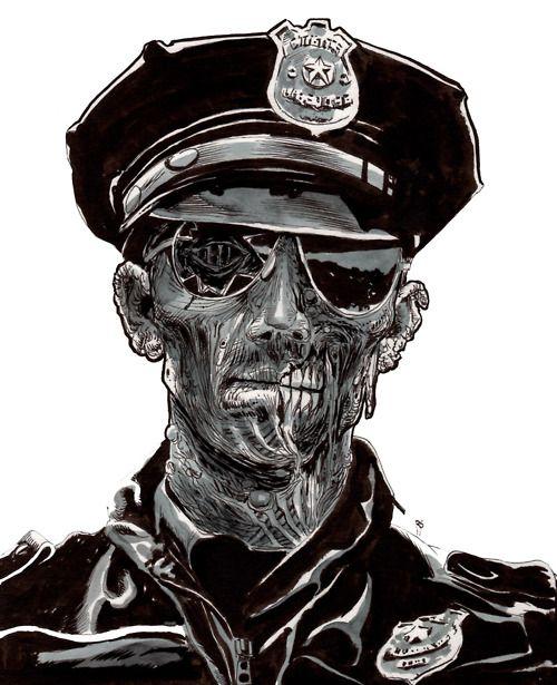 Nueva aparición del Mothman. Esta vez fué en España. Drawn-zombie-4