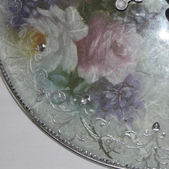 Реинкарнация стеклянной крышки. МК по декупажу с использованием рисовой бумаги. Original