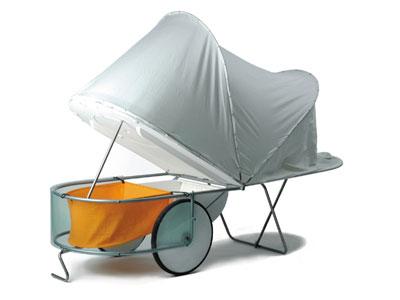 Caravane pliante, pour vélo ! Camp-let01