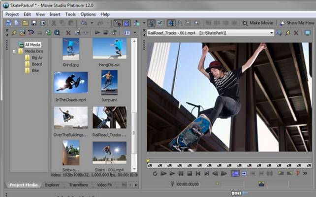 Edit Sony XDCAM MXF Files in Sony Movie Studio Platinum Suite Movie-Studio-Platinum-Suite-12-files-importing