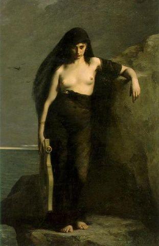 Safo de Lesbos (o de Mitilene); obra poética. Cultura antigua Safo_de_lesbos_01
