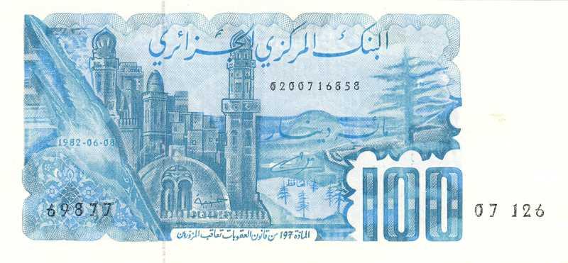 Compléter cette liste des signataires des billets Algériens Algerie-134-a