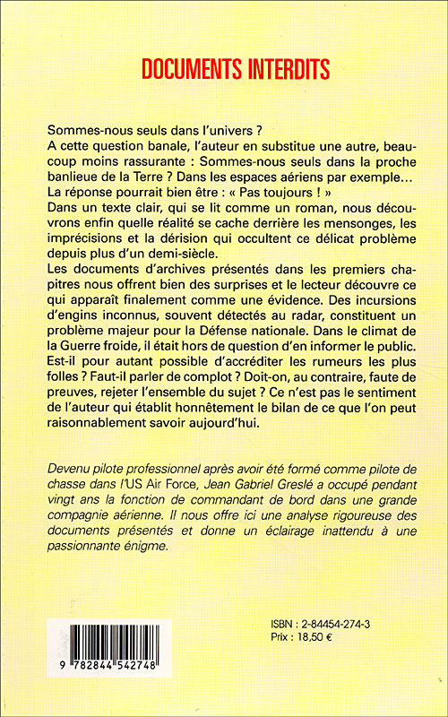 "(2004) ""Documents interdits- Ce que savent les états-majors"" Jean-Gabriel Greslé 9782844542748_1"