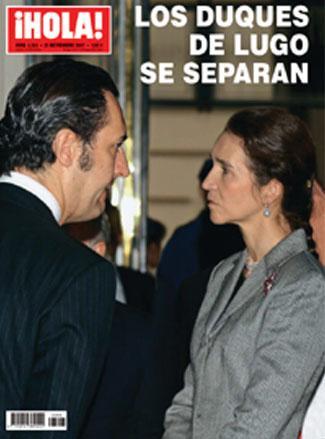 Elena y Jaime de Marichalar Portada-revista-hola-3303-325