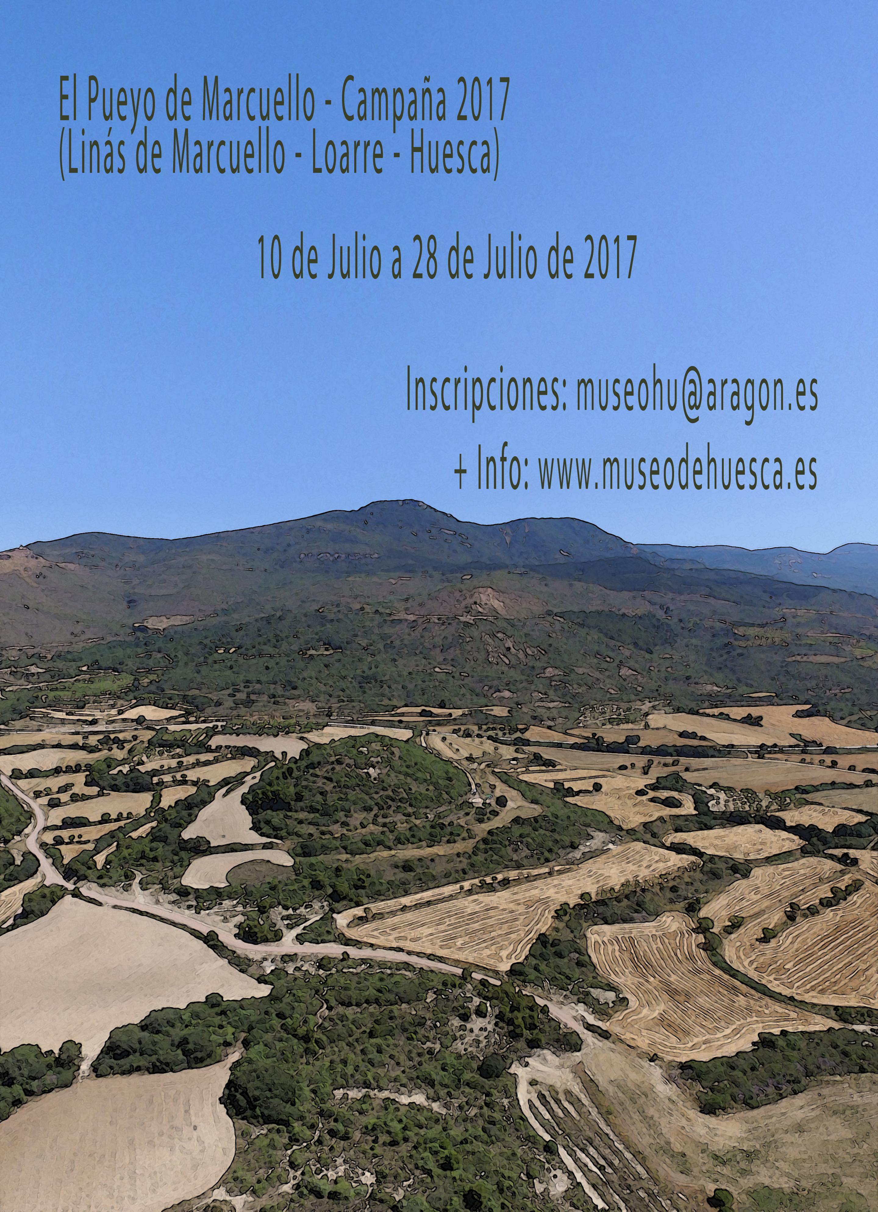 VI Campaña de excavación del yacimiento de la Edad del Hierro en el Pueyo de Marcuello. Cartel-2017-3