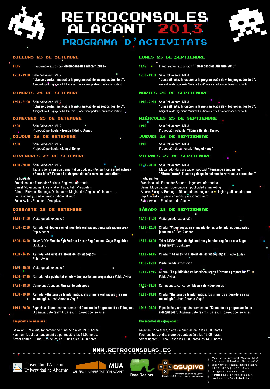 Retroconsolas 28 de septiembre en Alicante Programa_retroconsolas_2013