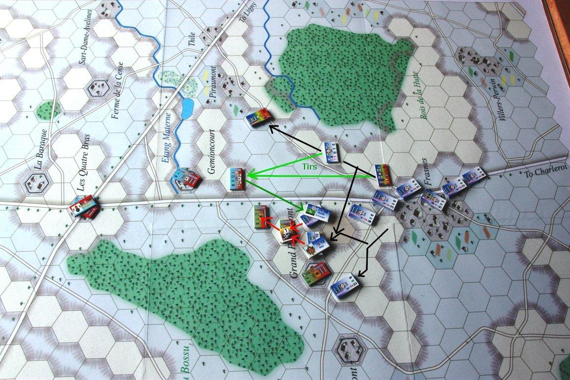 [CR] La bataille des Quatre Bras jeu Le retour de l'Empereur de Didier Rouy IMG_9114bis