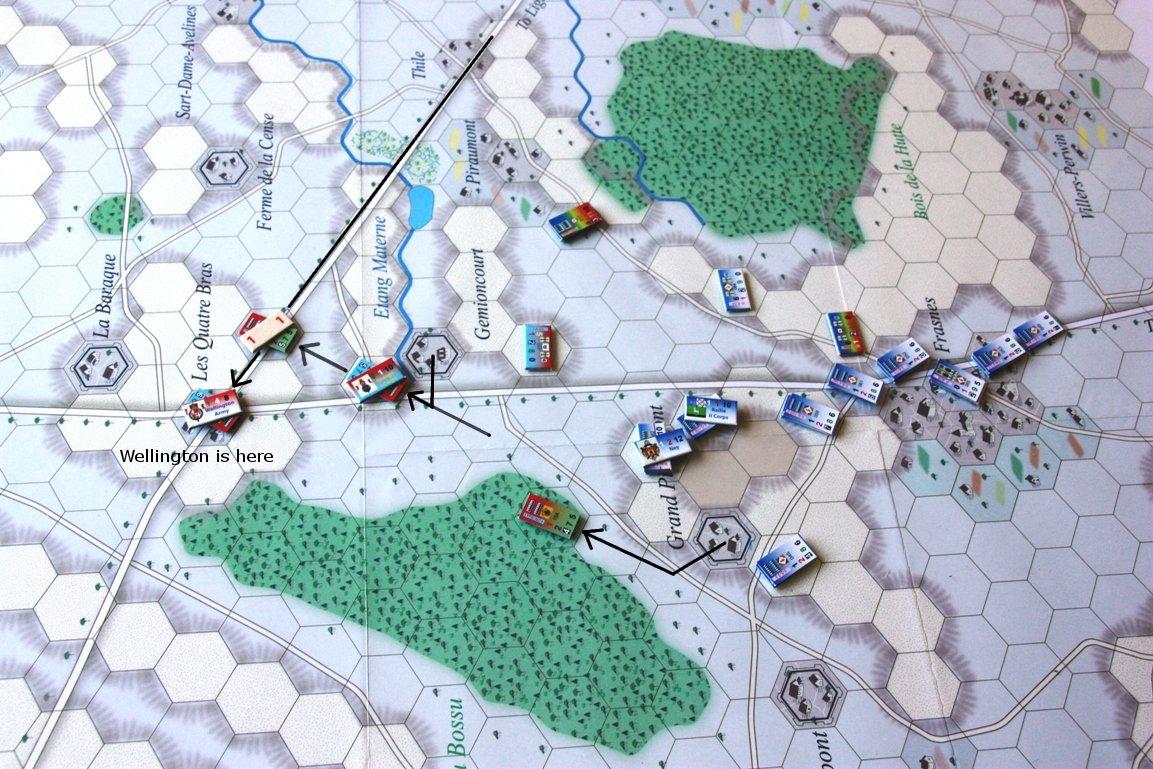 [CR] La bataille des Quatre Bras jeu Le retour de l'Empereur de Didier Rouy IMG_9119bis