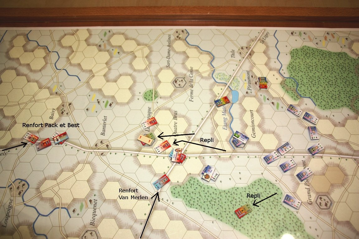 [CR] La bataille des Quatre Bras jeu Le retour de l'Empereur de Didier Rouy IMG_9129bis