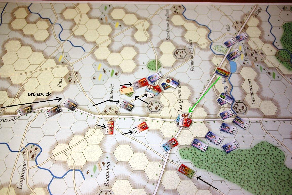 [CR] La bataille des Quatre Bras jeu Le retour de l'Empereur de Didier Rouy IMG_9133bis