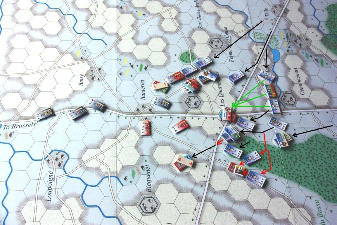 [CR] La bataille des Quatre Bras jeu Le retour de l'Empereur de Didier Rouy IMG_9134bis