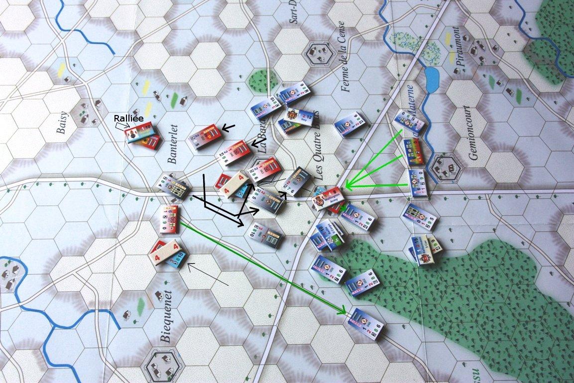 [CR] La bataille des Quatre Bras jeu Le retour de l'Empereur de Didier Rouy IMG_9137bis