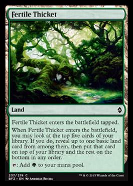 Battle for Zendikar - Page 3 Fertilethicket