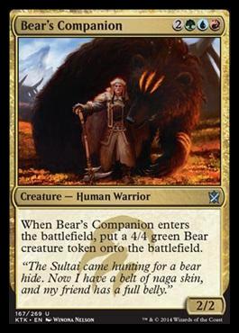Khans of Tarkir - Page 5 Bearscompanion