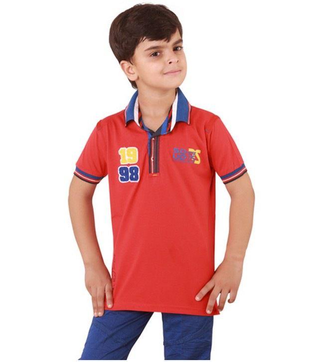 أزياء أطفال ناعمة Sugar-Free-Half-Sleeves-Red-SDL496377505-1-1efac