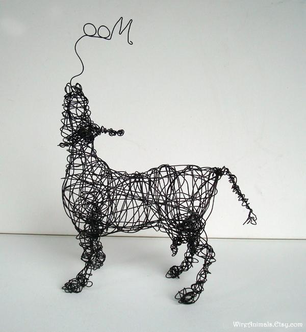 Wire Art Cow1