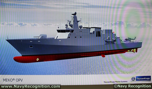 OPV: Offshore Patrol Vessels  MEKO_OPV_TKMS_indefence_2012_news