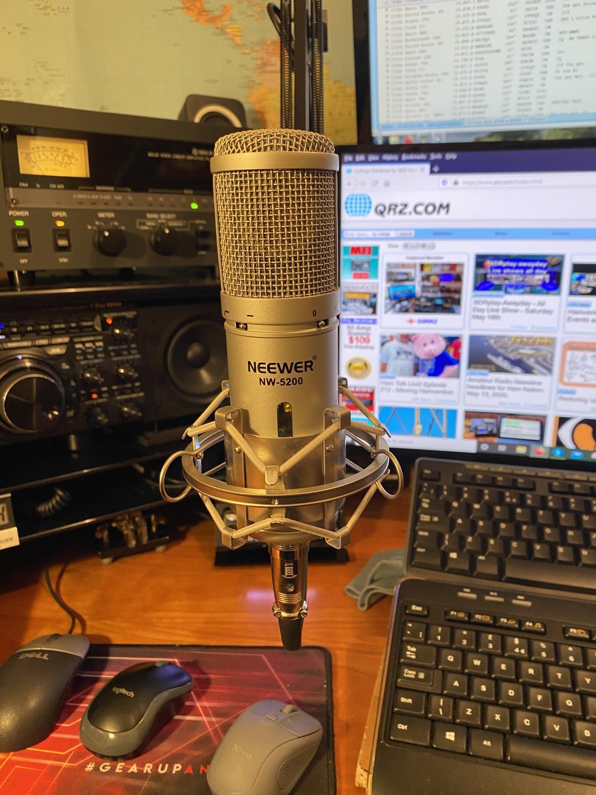 Yaesu FTdx101 : Audio en émission eSSB, réglage de l'équalizer UR6GW avec Micro Neewer NW5200 Newer5200-ei2hw