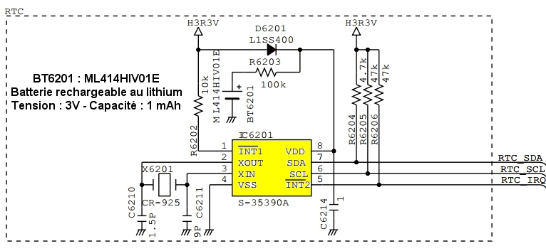 ICOM IC7100 : Panne accumulateur / Batterie interne - Perte de l'heure IC7100-BT6201-accu