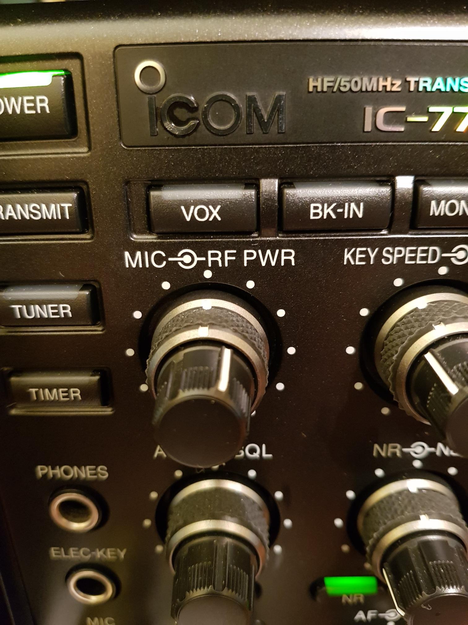 IC7700 ICOM et Micro Neewer NW700 : Economique et efficace IC7700-mic-gain-reglage