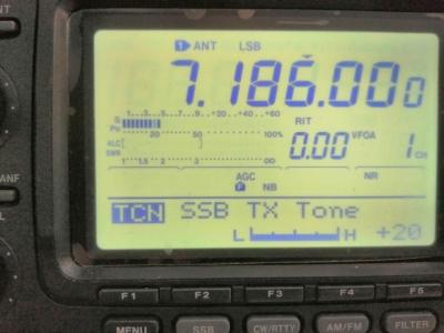 ICOM IC746 avec micro Tonor BM700 et mixer Alto Reglage-tx-tone