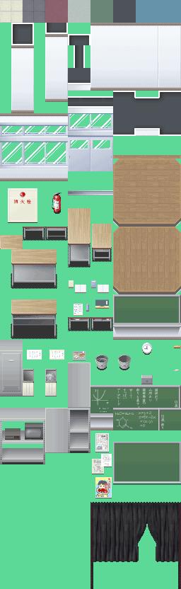 [XP] Tileset de escuela 001-P_School01