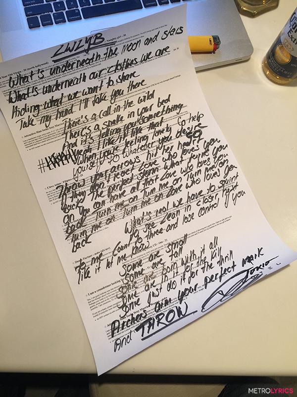 MetroLyrics.com: Quer GANHAR a letra de LWLYB escrita à mão por Bill Kaulitz? LWLYB_blog